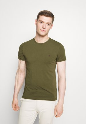 STRETCH SLIM FIT TEE - Basic T-shirt - putting green