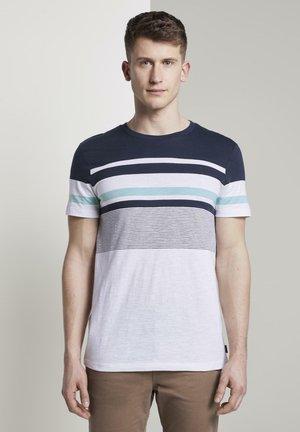 Print T-shirt - agate stone blue