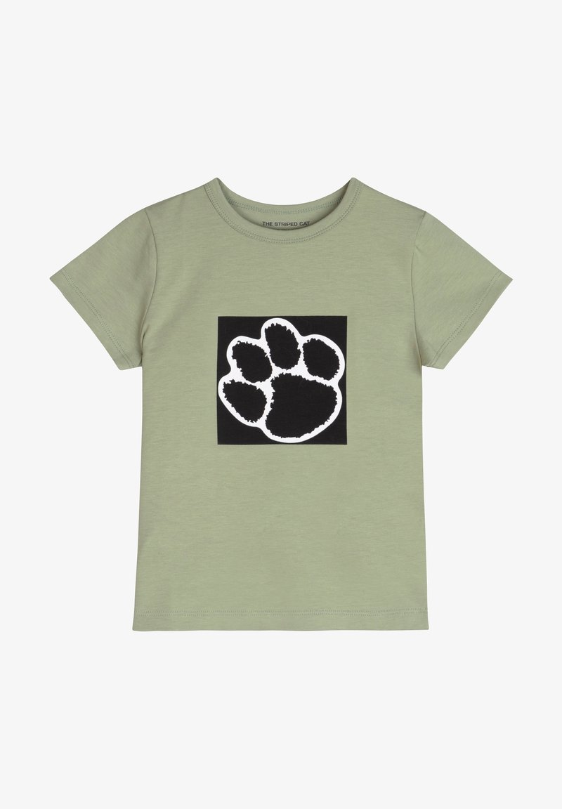 The Striped Cat - PAW - T-shirt imprimé - khaki green