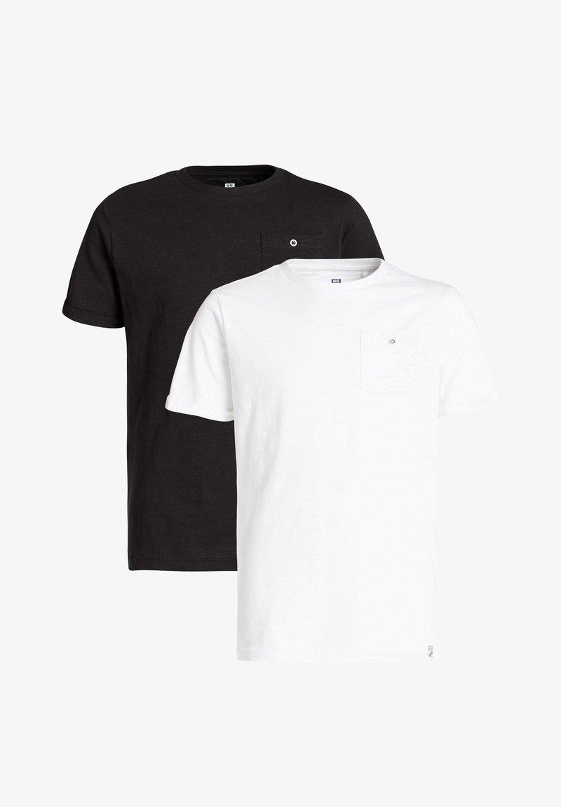 WE Fashion - 2-PACK - Camiseta básica - black/white