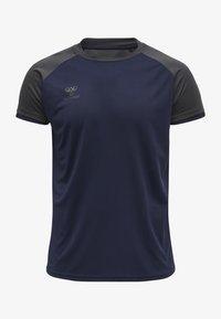 Hummel - Basic T-shirt - marine/asphalt - 0