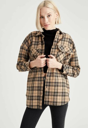 DEFACTO WOMAN SHIRT - Button-down blouse - brown