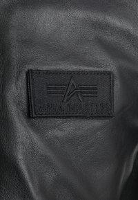 Alpha Industries - Leather jacket - black - 7