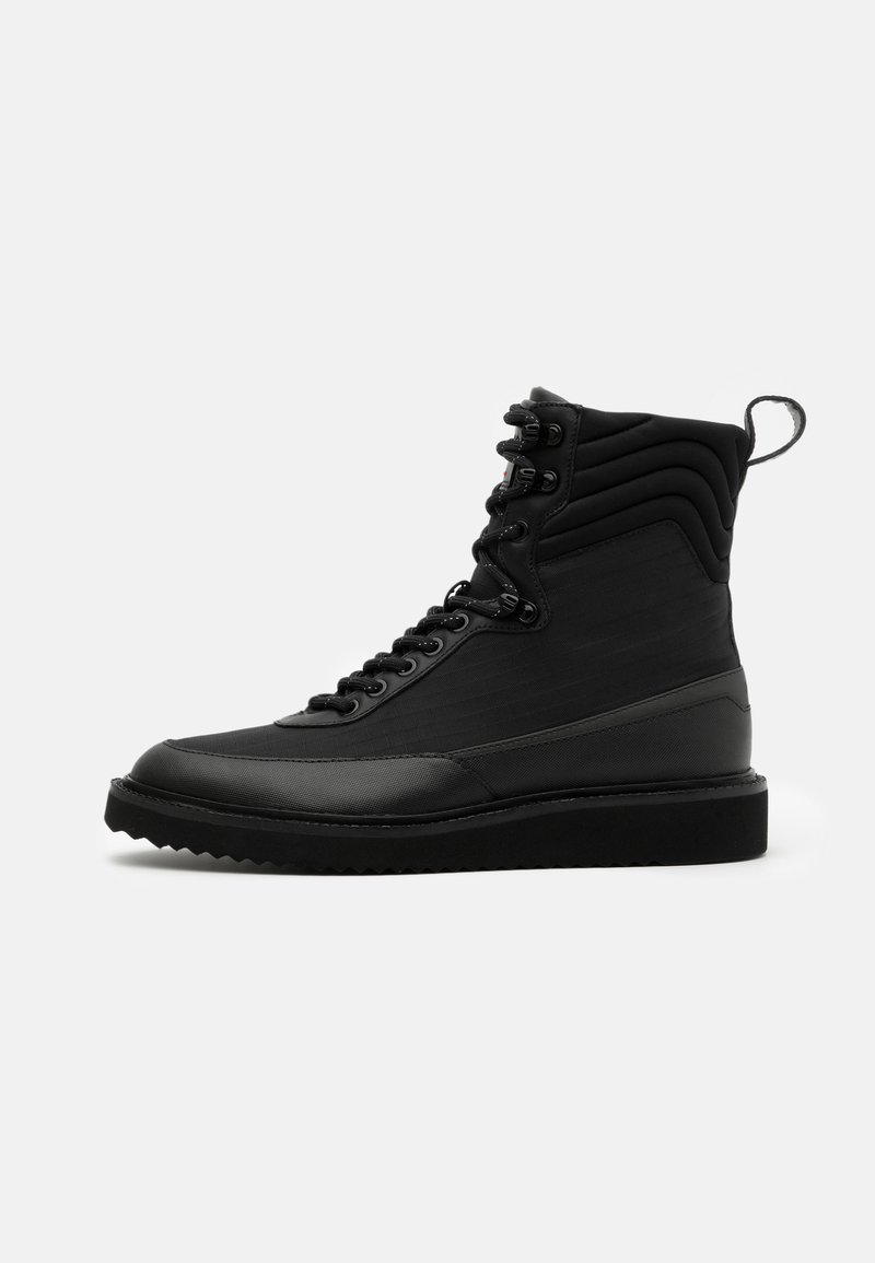 HUGO - DISTRICT - Lace-up ankle boots - black