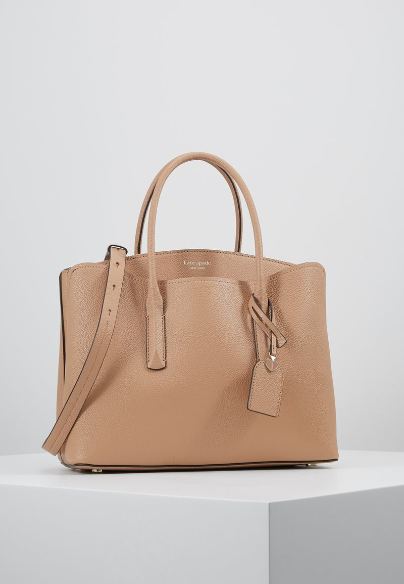 kate spade new york - MARGAUX LARGE SATCHEL - Axelremsväska - true taupe