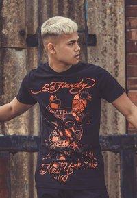 Ed Hardy - DEATH-GLORY T-SHIRT - Print T-shirt - black - 2
