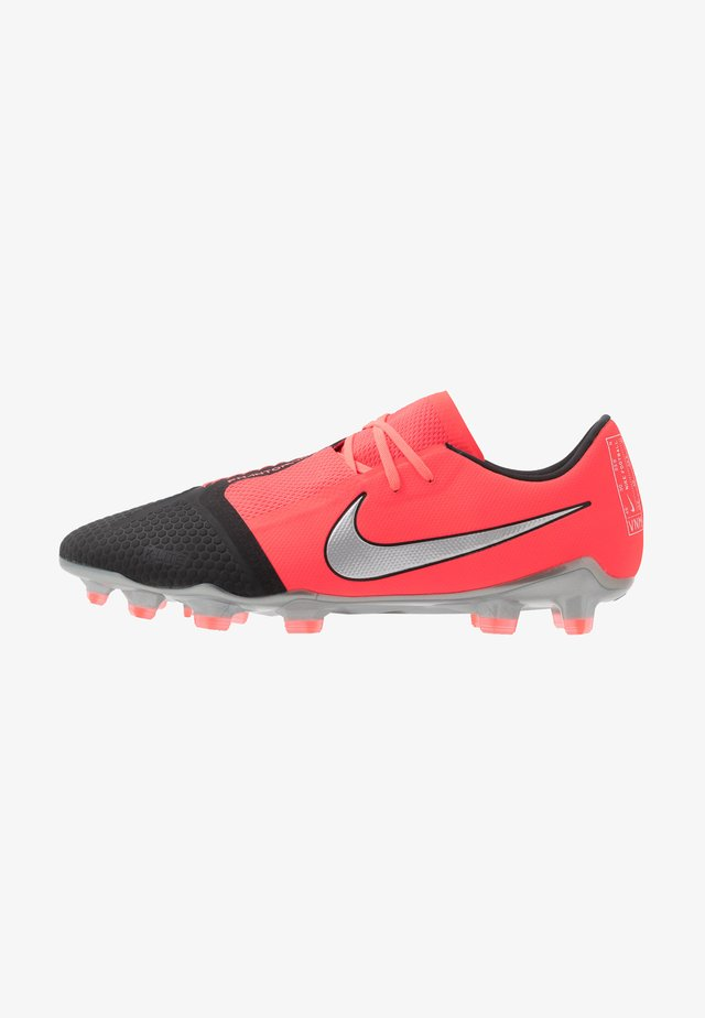 PHANTOM PRO FG - Moulded stud football boots - laser crimson/metallic silver/black