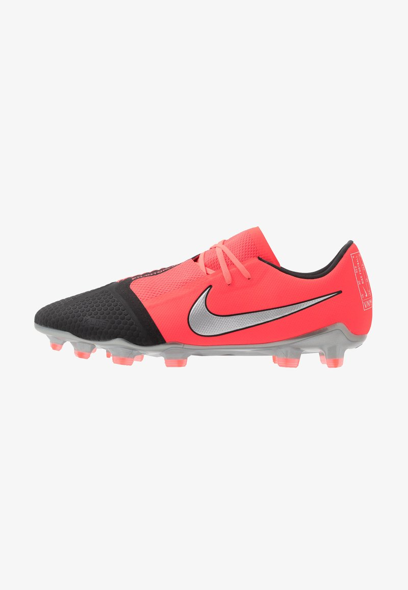 Nike Performance - PHANTOM PRO FG - Moulded stud football boots - laser crimson/metallic silver/black