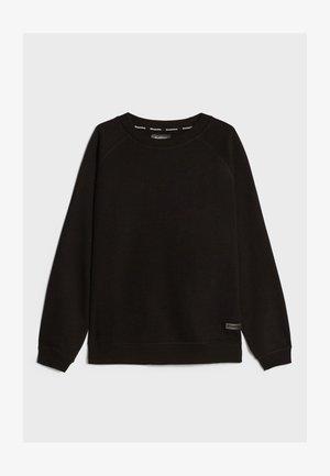MIT RUNDAUSSCHNITT  - Sweatshirts - black