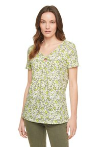 comma casual identity - Print T-shirt - offwhite leaf - 4