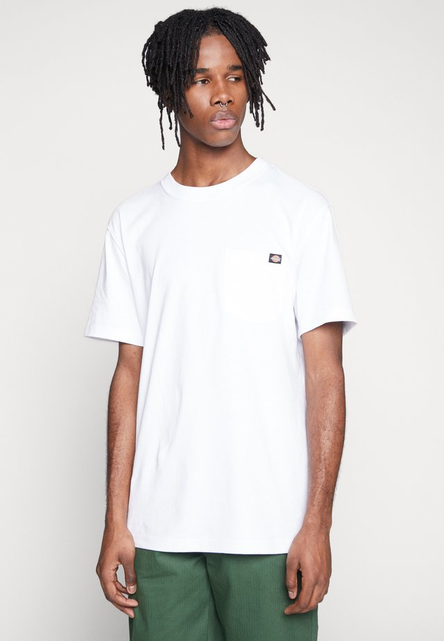 PORTERDALE POCKET - T-shirt basic - white