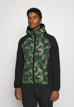 MOTION RADAR HOODED HYBRID - Soft shell jacket - dark green