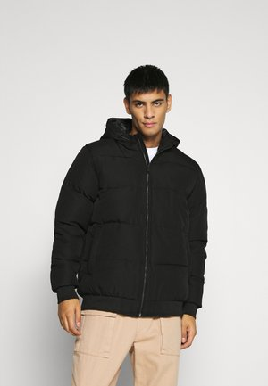 ONSBOSTON QUILTED BLOCK HOOD - Winter jacket - black