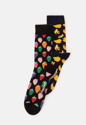 STRAWBERRY BANANA 2 PACK - Socks - black/multi