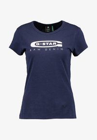 G-Star - GRAPHIC  - Print T-shirt - sartho blue - 4