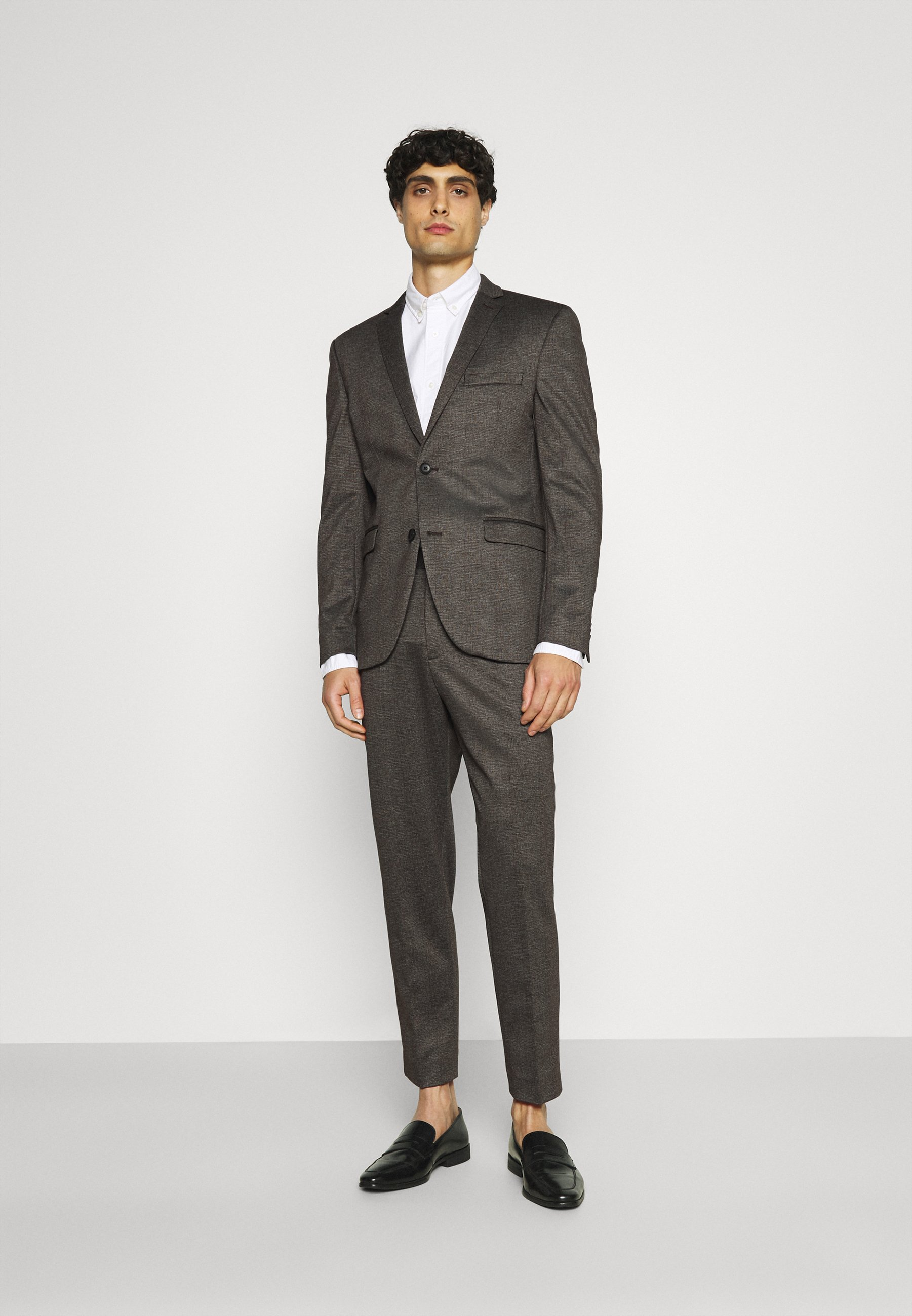 Homme COMFORTCHECK - Costume - dark brown