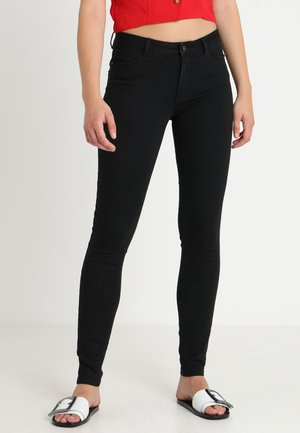 VMJULIA FLEX IT MR SLIM JEGGING GU1 - Vaqueros pitillo - black