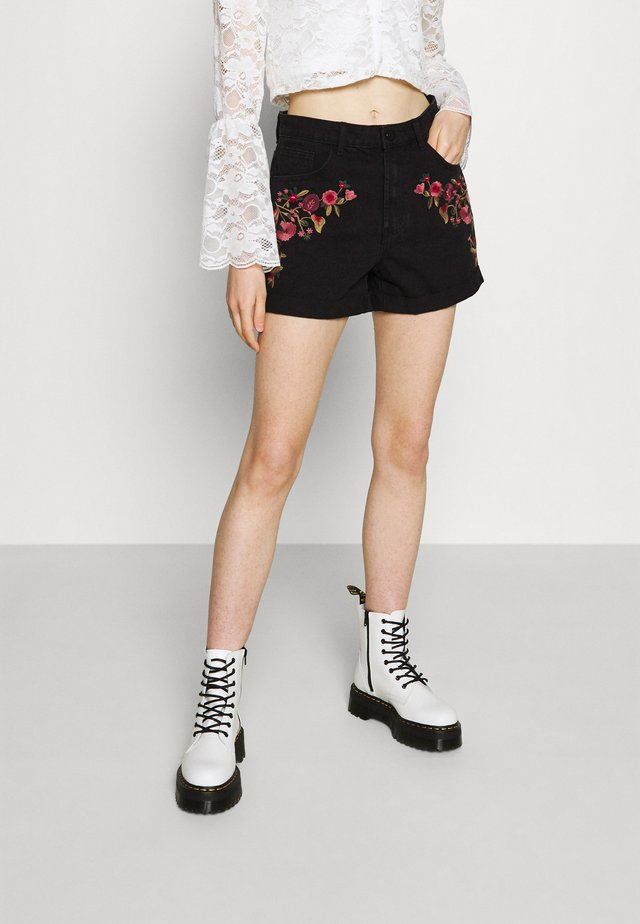 VIWOODY FESTIVAL  - Shorts di jeans - black