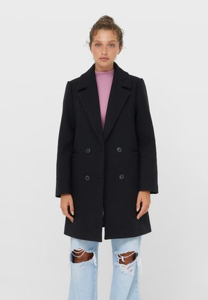 BASIC - Klasyczny płaszcz - black