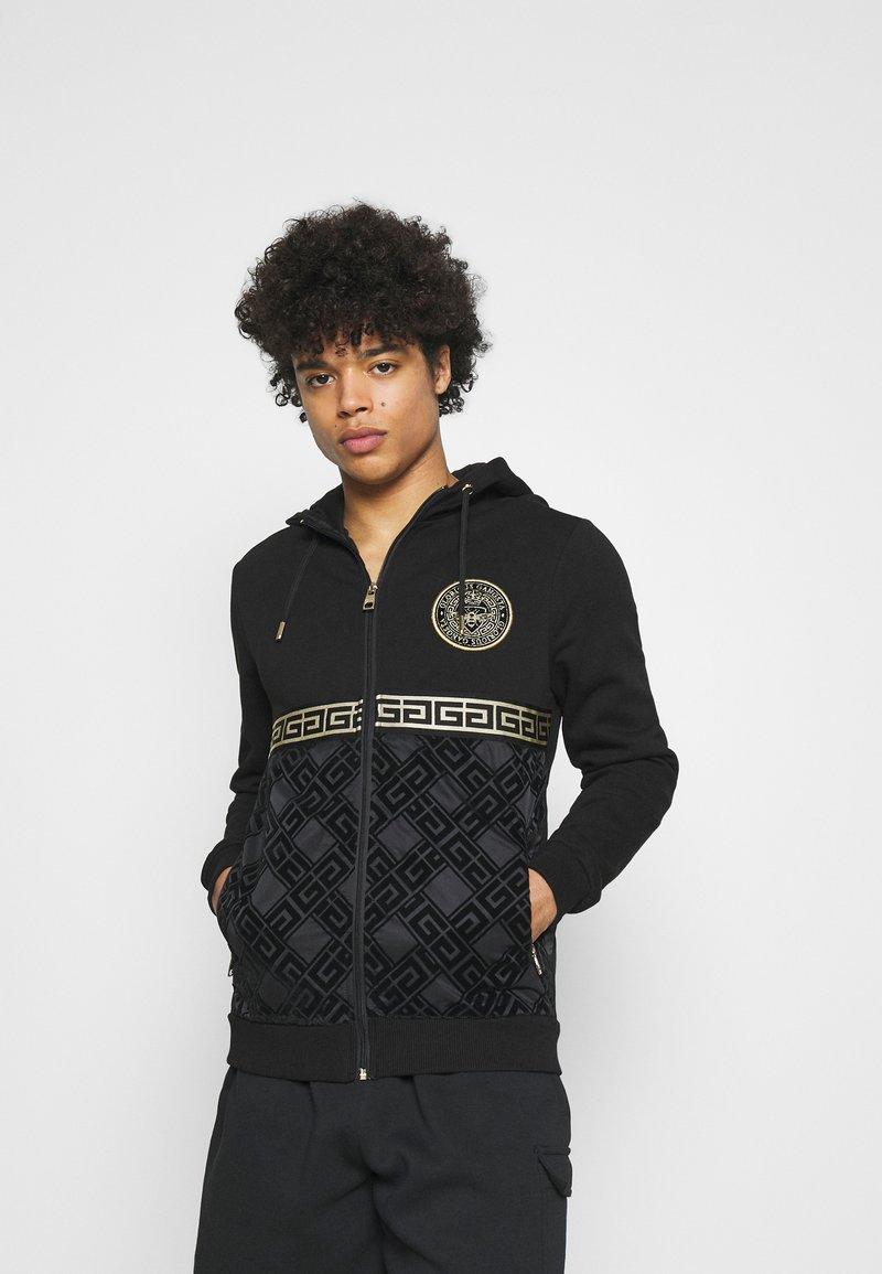 Glorious Gangsta - SINTOS HOOD - Zip-up hoodie - black/gold