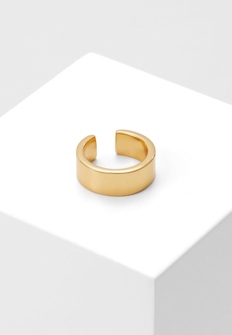 Orelia - CHUNKY PLAIN EAR CUFF - Earrings - pale gold-coloured