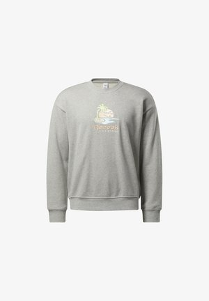 CL SR GRAPHIC CREW - Mikina - medium grey heather