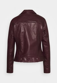 NAF NAF - CAREN - Leather jacket - berry - 1