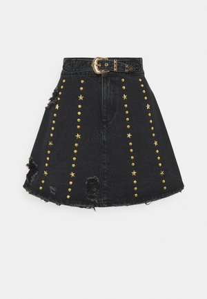 HOLLY SKIRT - Denim skirt - black