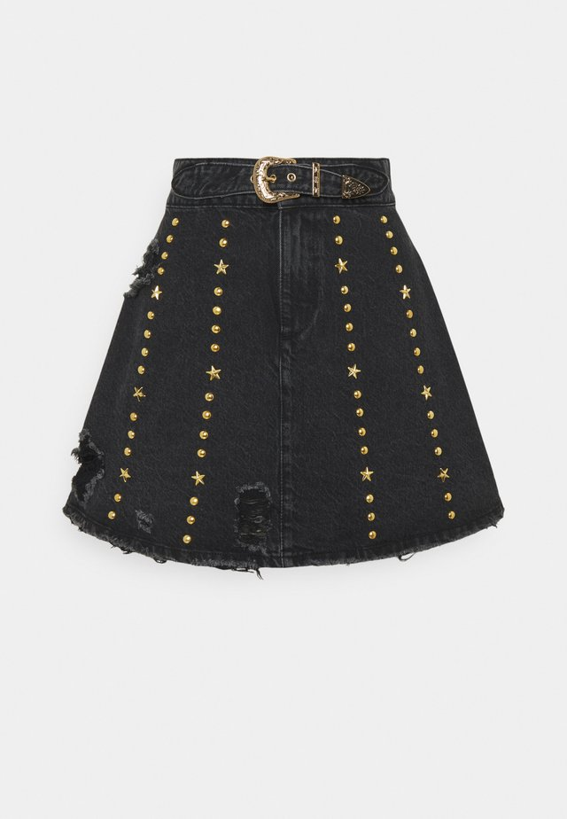 HOLLY SKIRT - Gonna di jeans - black