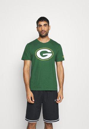 NFL BAY PACKERS LOGO ESSENTIAL - Print T-shirt - fir