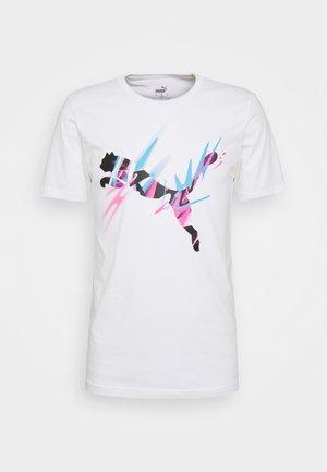 NEYMAR JR CREATIVITY LOGO TEE - Print T-shirt - white
