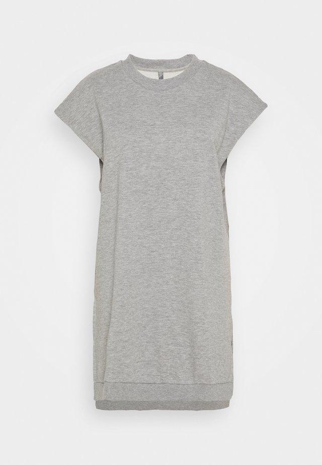 VEGA LONG VEST - Sweatshirt - grey melange