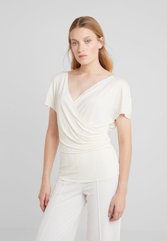 NIMES - T-shirt print - soft white