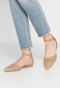 Rubi Shoes by Cotton On - ANKLE STRAP - Ankle strap ballet pumps - tan - 0