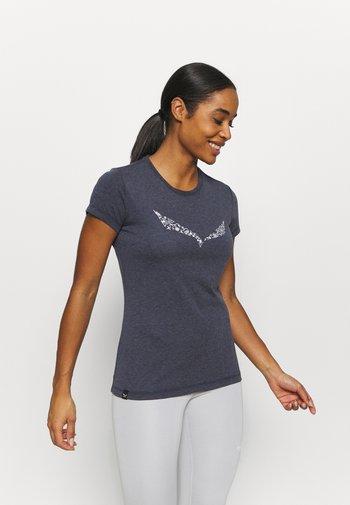 SOLID DRY - T-shirts med print - premium navy melange