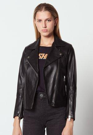 VEINARDE - Leather jacket - noir