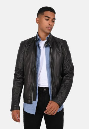 MARKER - Leather jacket - black
