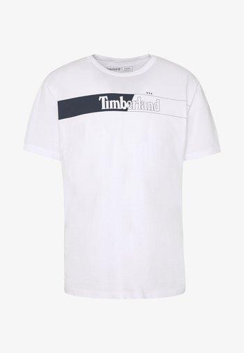 KENNEBEC RIVER HORIZONTAL GRAPHIC TEE - T-shirts print - white