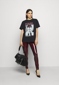 KARL LAGERFELD - KARL ROCK STAR TEE - Print T-shirt - black - 1
