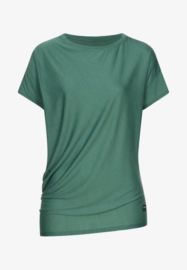 Print T-shirt - blau - grün