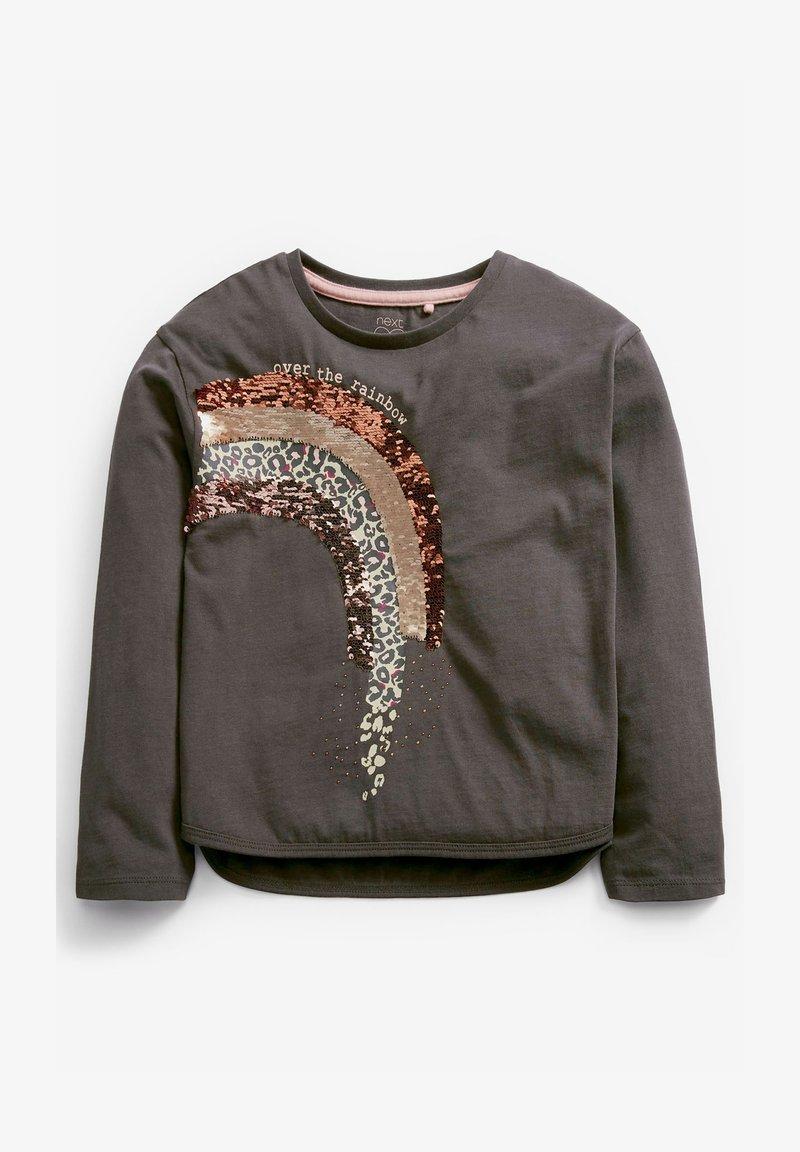 Next - RAINBOW SEQUIN - Print T-shirt - grey