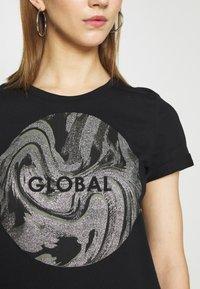 b.young - BXSEMONE TURN UP - Print T-shirt - black - 5