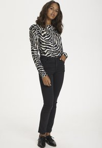 Kaffe - Long sleeved top - black/beige zebra print - 1
