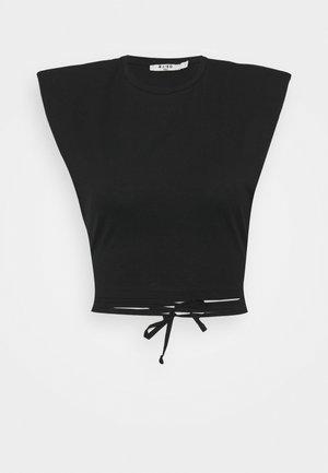 SHOULDER PADDED DETAIL - T-Shirt print - black