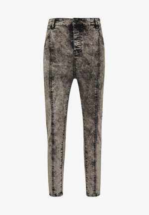PLEATED DROP CROTCH - Jeans Skinny Fit - snow wash