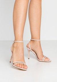 Miss Selfridge - SECRET SKINNY STRAPPY - Sandaler med høye hæler - nude - 0