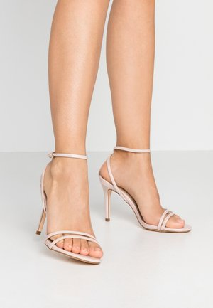 SECRET SKINNY STRAPPY - Korolliset sandaalit - nude