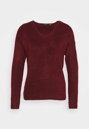 VMCREWLEFILE V NECK - Jumper - cabernet