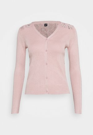 LACE BACK CARDIGAN - Vest - pale pink