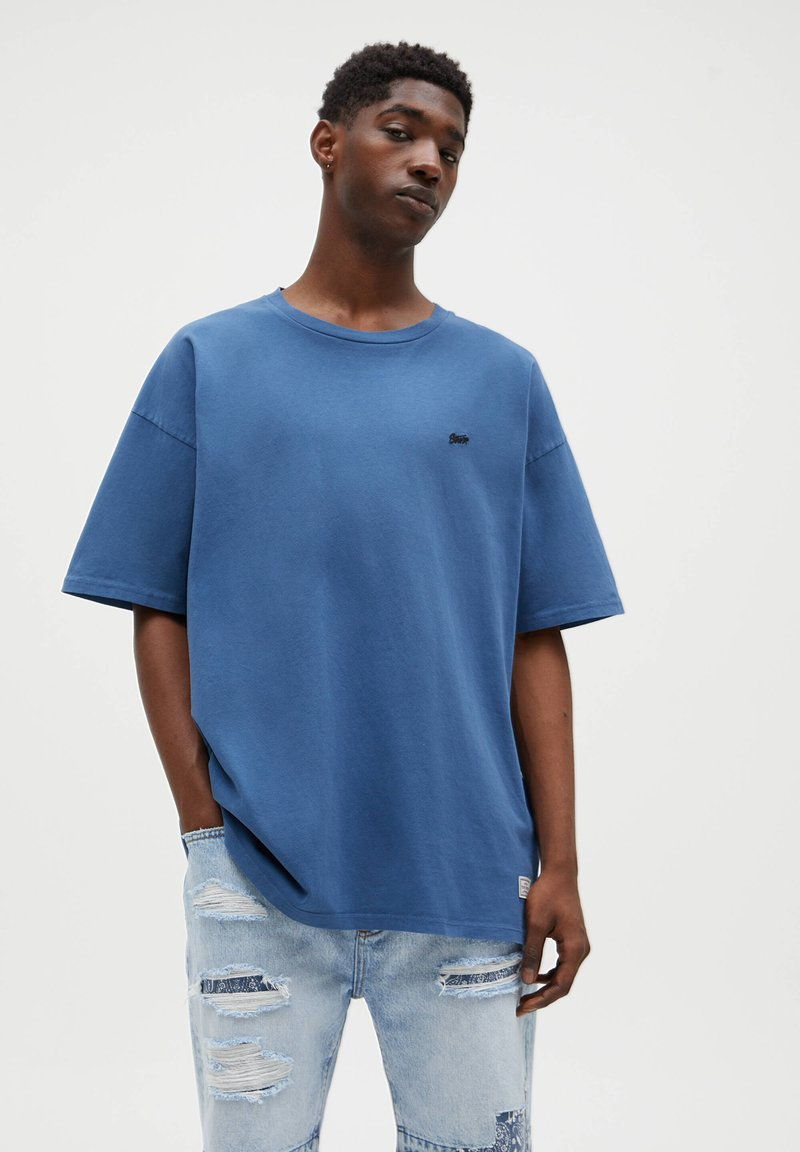 PULL&BEAR - T-paita - dark blue
